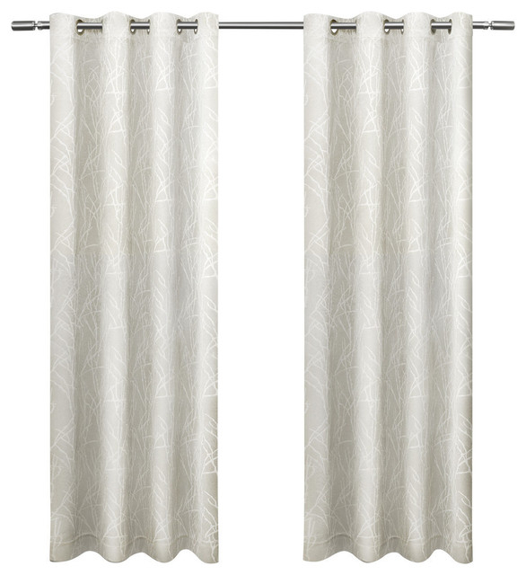 Popular Photo of Twig Insulated Blackout Curtain Panel Pairs With Grommet Top