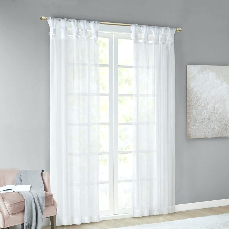Twist Tab Curtains – Gerardhanberry With Tab Top Sheer Single Curtain Panels (#41 of 50)