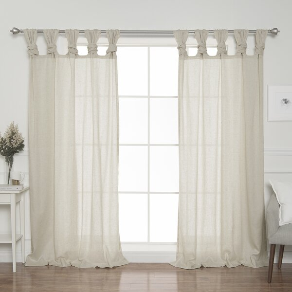 Twisted Tab Curtain Panel | Wayfair Inside Archaeo Slub Textured Linen Blend Grommet Top Curtains (View 33 of 37)