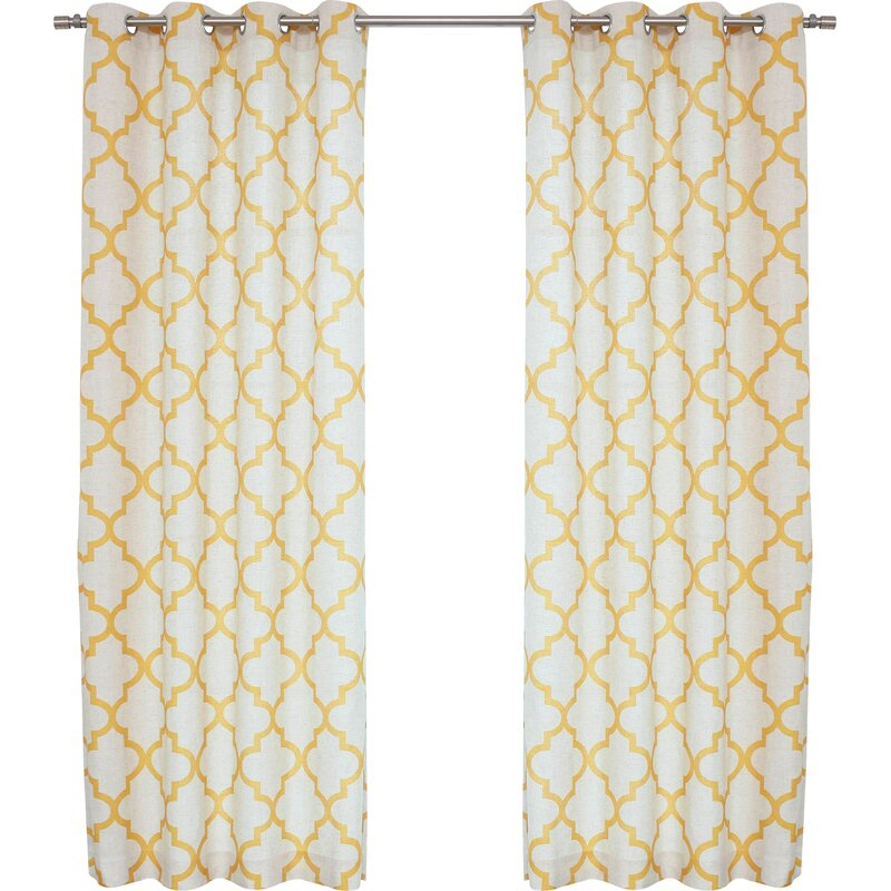 Twyla Moroccan Tile Geometric Room Darkening Grommet Curtain Panels With Regard To Tacoma Double Blackout Grommet Curtain Panels (View 41 of 48)