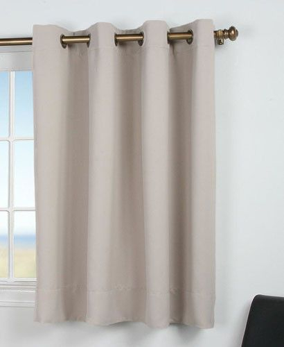 Inspiration about Ultimate Black Out Grommet Top Shortie Panel | Sewing Pertaining To Ultimate Blackout Short Length Grommet Curtain Panels (#8 of 50)