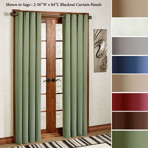 Ultimate Blackout Grommet Curtain Panel In Blackout Grommet Curtain Panels (View 2 of 40)