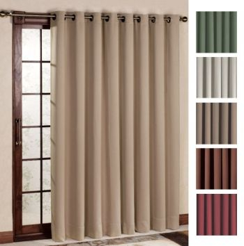 Ultimate Blackout Grommet Patio Curtain Panel 112 X 84 Pertaining To Grommet Blackout Patio Door Window Curtain Panels (View 45 of 50)