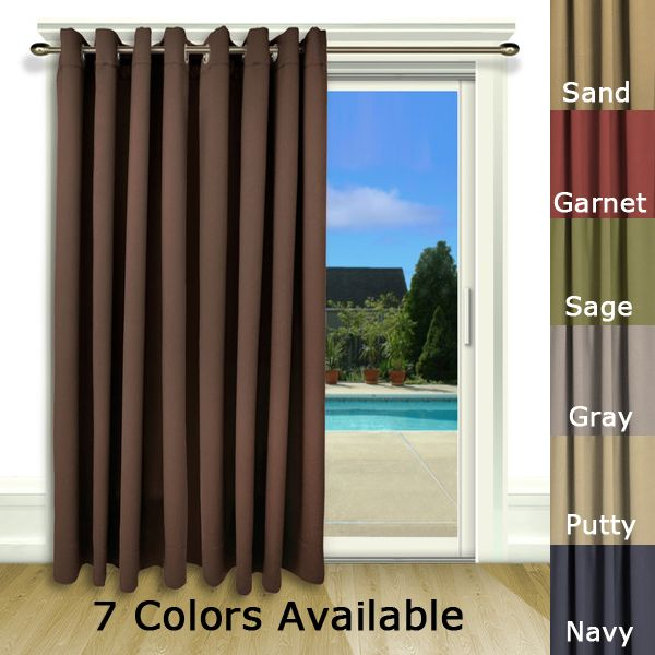 Ultimate Blackout Grommet Patio Curtain Panel 112 X 84 Regarding Tacoma Double Blackout Grommet Curtain Panels (View 42 of 48)