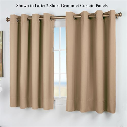 Inspiration about Ultimate Blackout Short Grommet Curtain Panel Inside Ultimate Blackout Short Length Grommet Curtain Panels (#1 of 50)