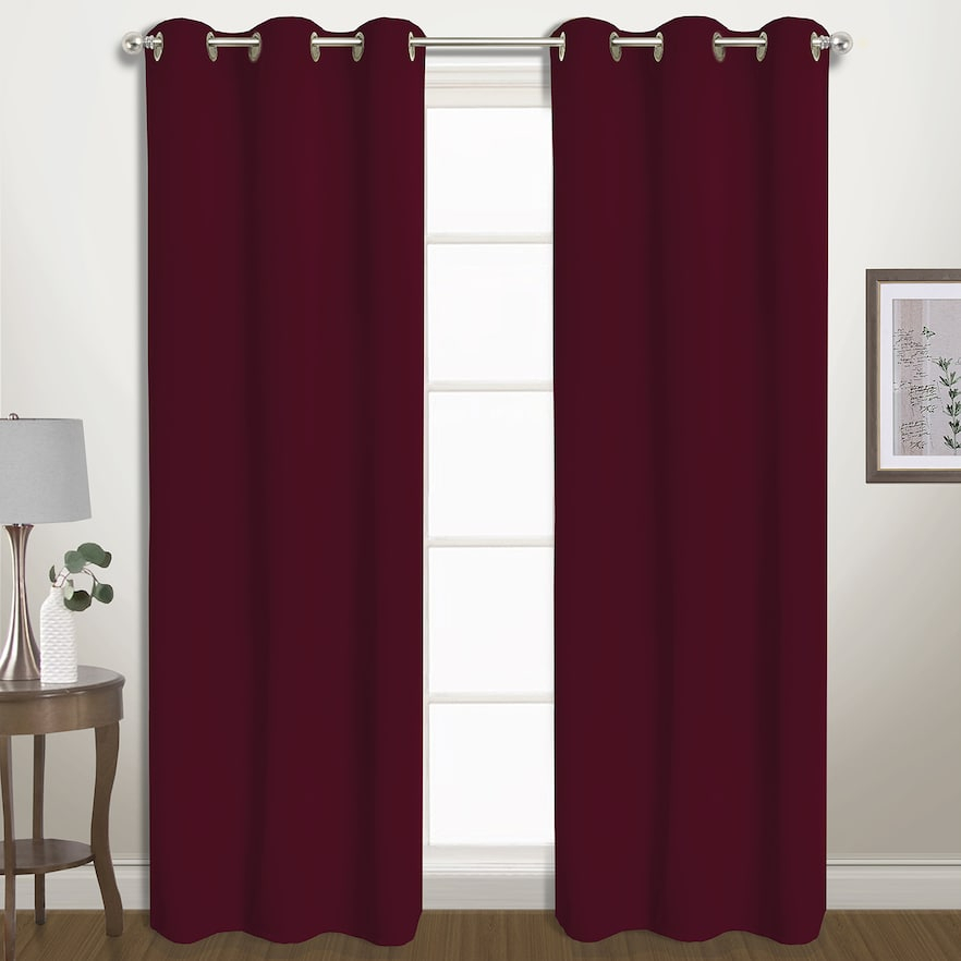 Inspiration about United Curtain Co. 2 Pack Belize Blackout Window Curtains With Regard To Tacoma Double Blackout Grommet Curtain Panels (#38 of 48)