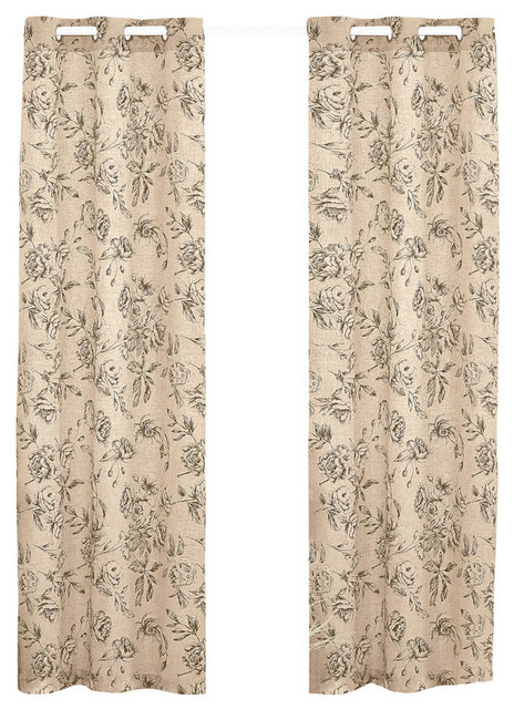 """Inspiration about United Curtain Co. Fiona 74""""x84"""" Window Panel Pair, Taupe Throughout Curtain Panel Pairs (#19 of 26)"""