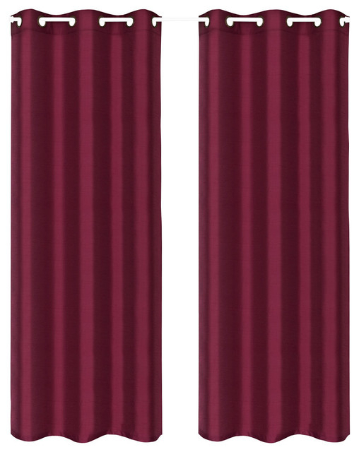 """Inspiration about United Curtain Co. Vintage 80""""x95"""" Window Panel Pair, Burgundy Intended For Antique Silver Grommet Top Thermal Insulated Blackout Curtain Panel Pairs (#5 of 40)"""