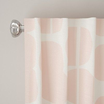 Unlined Curtain Potter Dot Pink 108L – Designlovefest With Grainger Buffalo Check Blackout Window Curtains (View 41 of 50)
