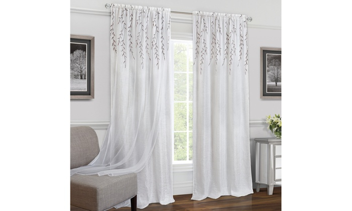 Inspiration about Up To 31% Off On Rod Pocket Window Curtain Panel | Groupon Goods In Willow Rod Pocket Window Curtain Panels (#6 of 46)
