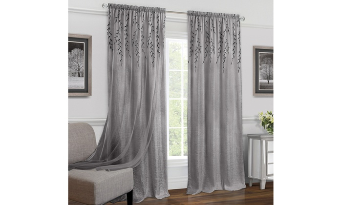 Inspiration about Up To 31% Off On Rod Pocket Window Curtain Panel   Groupon Goods Intended For Willow Rod Pocket Window Curtain Panels (#4 of 46)