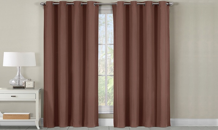 Up To 50% Off On Brown Heavyweight Grommet Roo | Groupon With Regard To Grommet Room Darkening Curtain Panels (View 45 of 50)