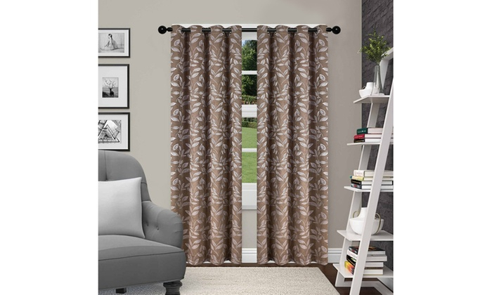 Inspiration about Up To 52% Off On Insulated Thermal 52X108 Blac | Groupon For Twig Insulated Blackout Curtain Panel Pairs With Grommet Top (#24 of 50)