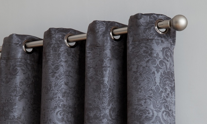 Inspiration about Up To 61% Off On Grommet Window Drapery Curtains | Groupon Goods In Embossed Thermal Weaved Blackout Grommet Drapery Curtains (#1 of 42)