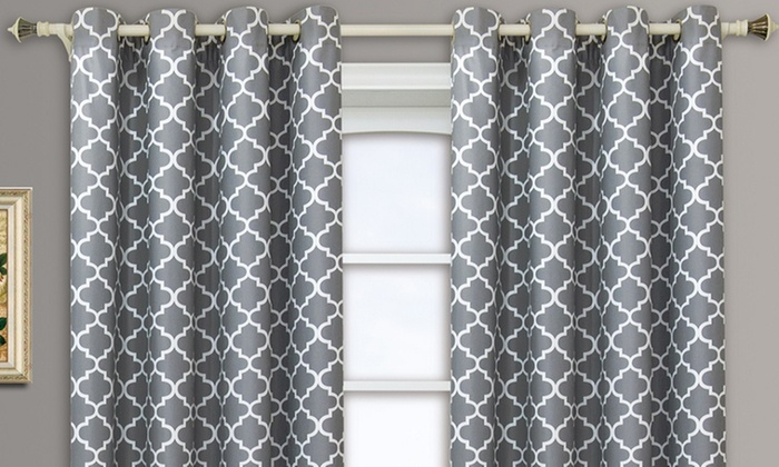 Up To 69% Off On Pair (Set Of 2 Panels) Meridi | Groupon Intended For Meridian Blackout Window Curtain Panels (#48 of 50)