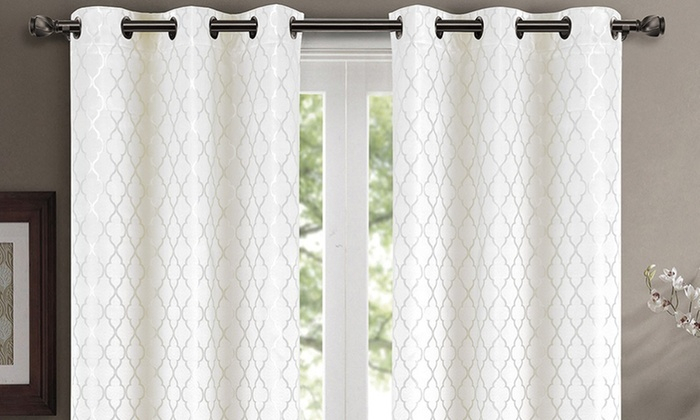 Up To 80% Off On Pair ( Set Of 2) Willow Therm | Groupon For Insulated Blackout Grommet Window Curtain Panel Pairs (View 31 of 37)