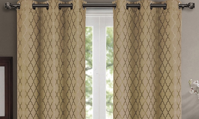 Inspiration about Up To 80% Off On Pair ( Set Of 2) Willow Therm | Groupon Inside Thermal Insulated Blackout Curtain Panel Pairs (#41 of 50)