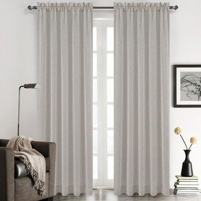 Inspiration about Urbanest Chloe Solid Sheer Rod Pocket Curtain Panels Size Intended For Sugar Creek Grommet Top Loha Linen Window Curtain Panel Pairs (#39 of 50)