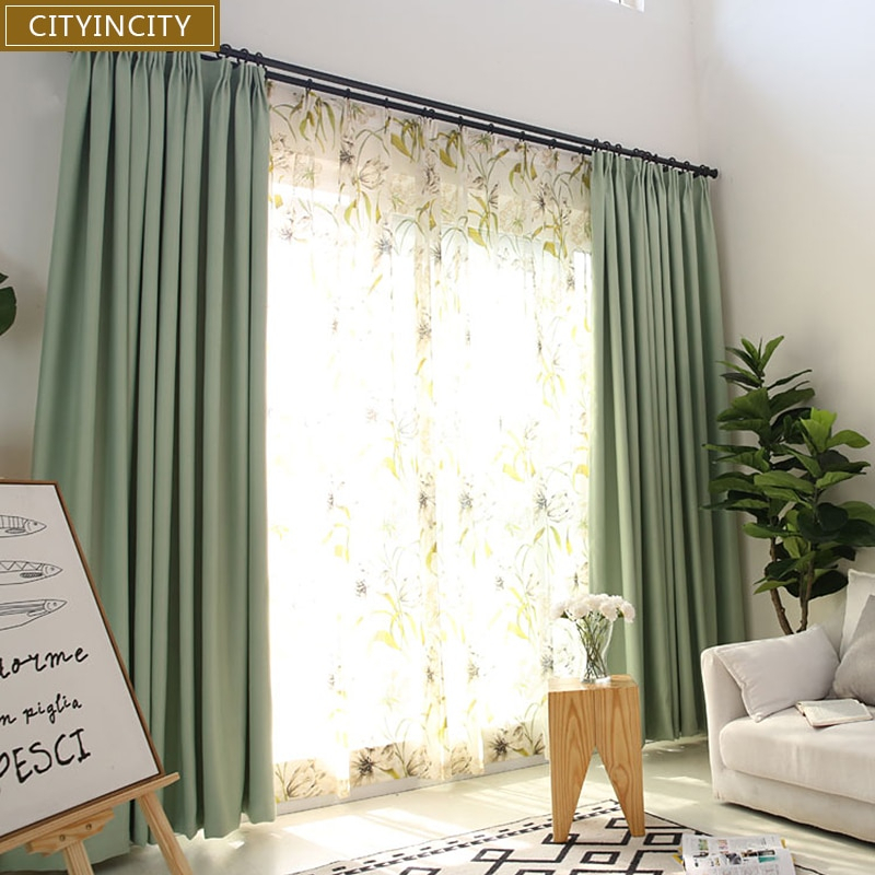 Inspiration about Us $21.89 37% Off|Cityincity Solid Blackout Curtains For Bedroom Faux Linen  Darpes Modern Thick Curtain For Livingroom Window Ready Made Curtain In Throughout Faux Linen Blackout Curtains (#49 of 50)
