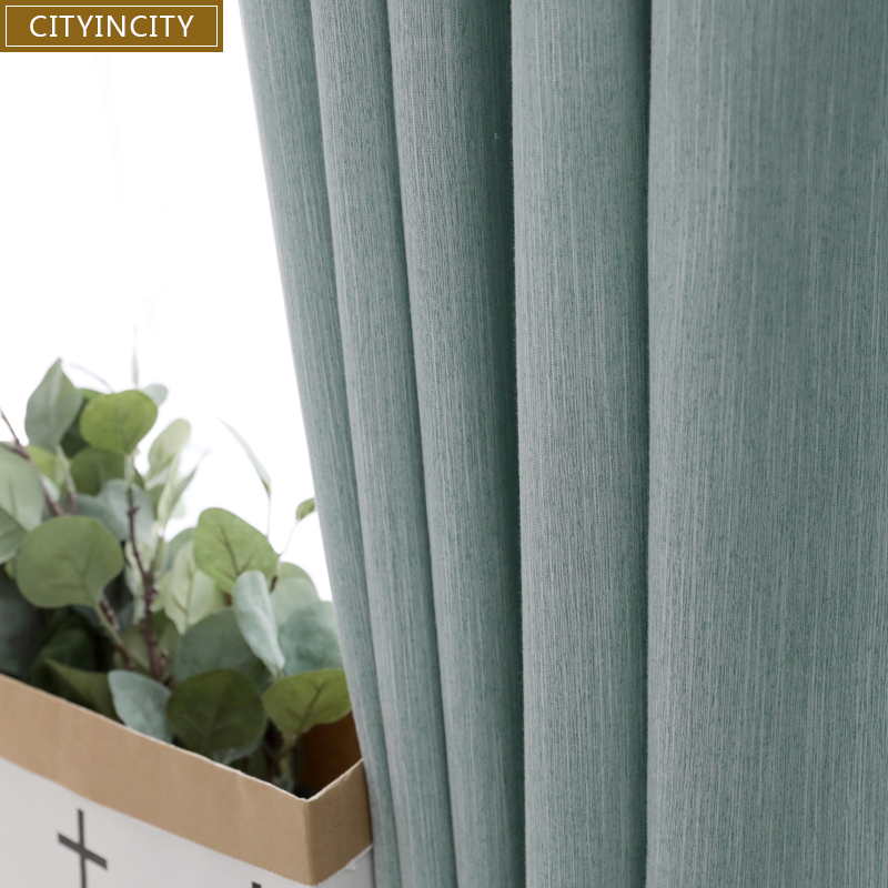Inspiration about Us $26.1 37% Off|Cityincity Solid Blackout Curtain For Living Room Home  Decor Drape Soft Faux Linen Curtains Bedroom High Shading Rate Rideaux In Regarding Faux Linen Extra Wide Blackout Curtains (#47 of 50)