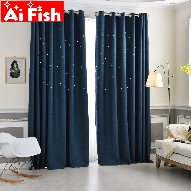 Inspiration about Us $3.19 44% Off|Modern Hollow Star Faux Linen Blackout Curtains For Living  Room Romantic White Shiny Window Sheer Tulle For The Bedroom Df053#40 In Throughout Faux Linen Blackout Curtains (#37 of 50)