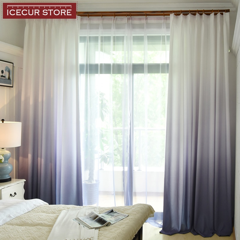 Inspiration about Us $6.23 53% Off|Icecur 3D Gradient Faux Linen Blackout Curtains For Kids  Bedroom Kitchen Simple Modern Curtain Window Blinds Drapes Single Panel In Pertaining To Faux Linen Blackout Curtains (#29 of 50)
