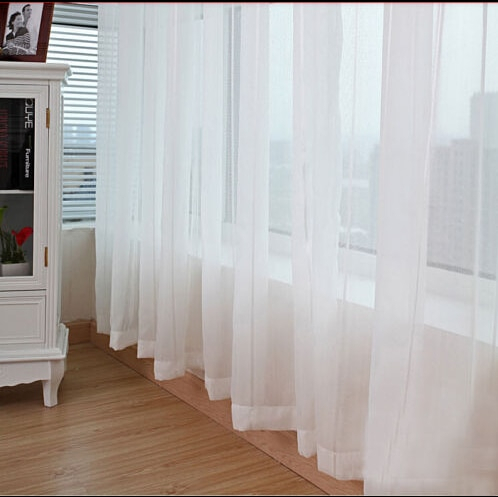 Inspiration about Us $7.12 33% Off|High Quality Modern One Piece 150Cm*270Cm Sheer White  Voile Scarf Curtain Panel Sets Curtains Extra Wide Long Hot Selling 1Pcs In Inside Extra Wide White Voile Sheer Curtain Panels (#4 of 50)