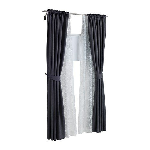 Us – Furniture And Home Furnishings | Curtains, Sheer Inside Double Layer Sheer White Single Curtain Panels (View 49 of 50)