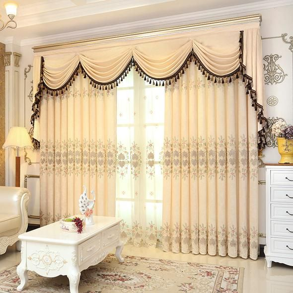 Valance European Royal Luxury Valance Curtains For Living With Regard To Elegant Comfort Luxury Penelopie Jacquard Window Curtain Panel Pairs (View 49 of 50)