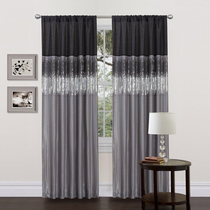 Popular Photo of Light Filtering Sheer Single Curtain Panels