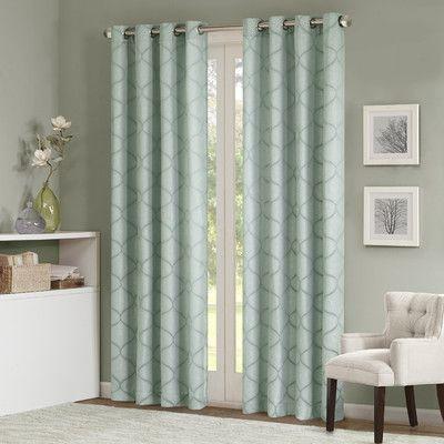 Varick Gallery Annalie Window Light Filtering Single Curtain Regarding Light Filtering Sheer Single Curtain Panels (#38 of 38)