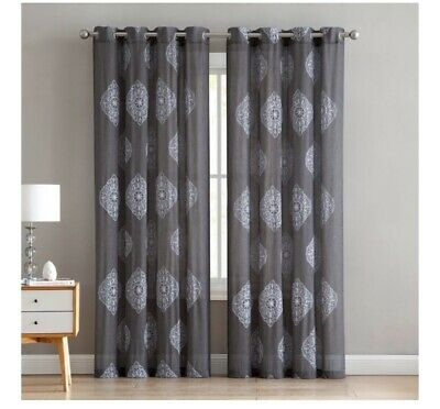 Vc Ny Home Downtown Collection Gemma Darkening Curtain Pertaining To Pastel Damask Printed Room Darkening Grommet Window Curtain Panel Pairs (#47 of 50)