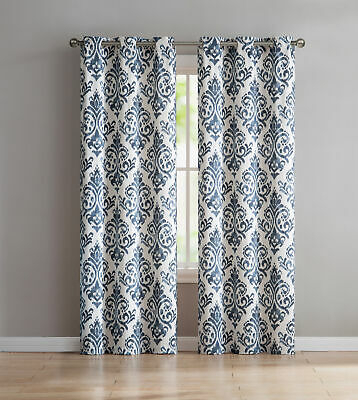 Vcny Home Blue Grommet Curtain Panel Pair   Ebay Intended For Caldwell Curtain Panel Pairs (View 24 of 27)