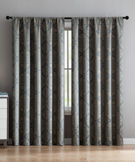 Vcny Home Gray Floral Ella Curtain Panel | Zulily Intended For Ella Window Curtain Panels (View 47 of 50)