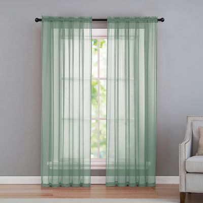 "Vcny Home Infinity Sheer Rod Pocket 108"" Window Curtain Intended For Infinity Sheer Rod Pocket Curtain Panels (#44 of 50)"