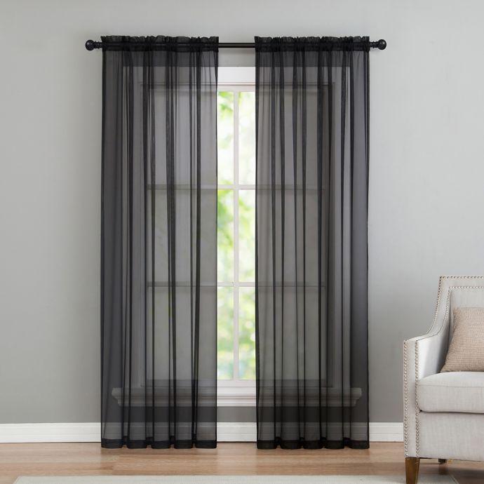 Vcny Home Infinity Sheer Rod Pocket Window Curtain Panel With Infinity Sheer Rod Pocket Curtain Panels (#45 of 50)