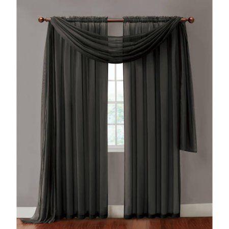 Vcny Home Infinity Sheer Rod Pocket Window Curtains With Regard To Infinity Sheer Rod Pocket Curtain Panels (#46 of 50)
