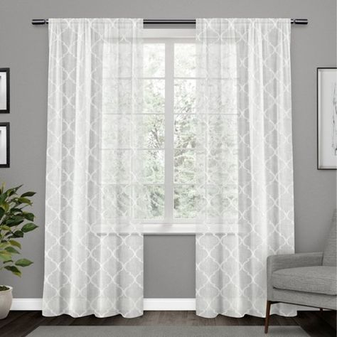 Vcny Home Irongate Sheer Curtain Panel – White Sheer Curtain For Copper Grove Fulgence Faux Silk Grommet Top Panel Curtains (View 49 of 50)