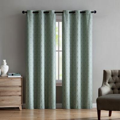 "Vcny Home Jade 84"" Grommet Top Window Curtain Panel Pair In With Regard To Sugar Creek Grommet Top Loha Linen Window Curtain Panel Pairs (View 46 of 50)"