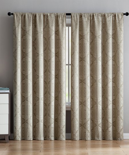 Vcny Home Taupe Ella Curtain Panel In Ella Window Curtain Panels (View 48 of 50)