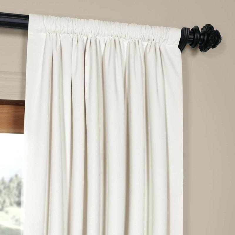 Velvet Blackout Curtains – Fakesartorialist For Signature Ivory Velvet Blackout Single Curtain Panels (View 35 of 50)