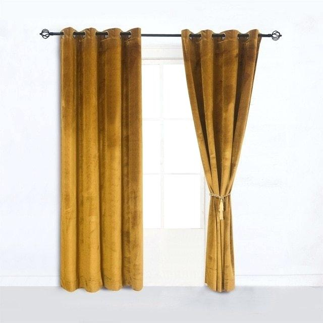 Velvet Curtain Panel Pair Blush Curtains – Friendlyeliteflooring In Knotted Tab Top Window Curtain Panel Pairs (#39 of 50)