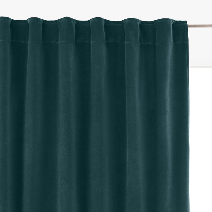 Velvet Hidden Tabs Single Curtain Panel La Redoute For Single Curtain Panels (View 36 of 36)