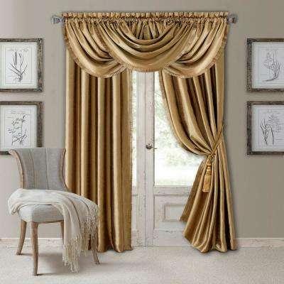 Versailles Faux Silk Blackout Window Curtain In Faux Silk Extra Wide Blackout Single Curtain Panels (View 47 of 50)