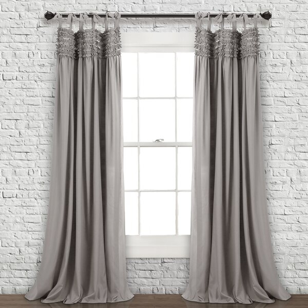 Vertical Ruffle Curtain | Wayfair For Sheer Voile Waterfall Ruffled Tier Single Curtain Panels (#41 of 50)