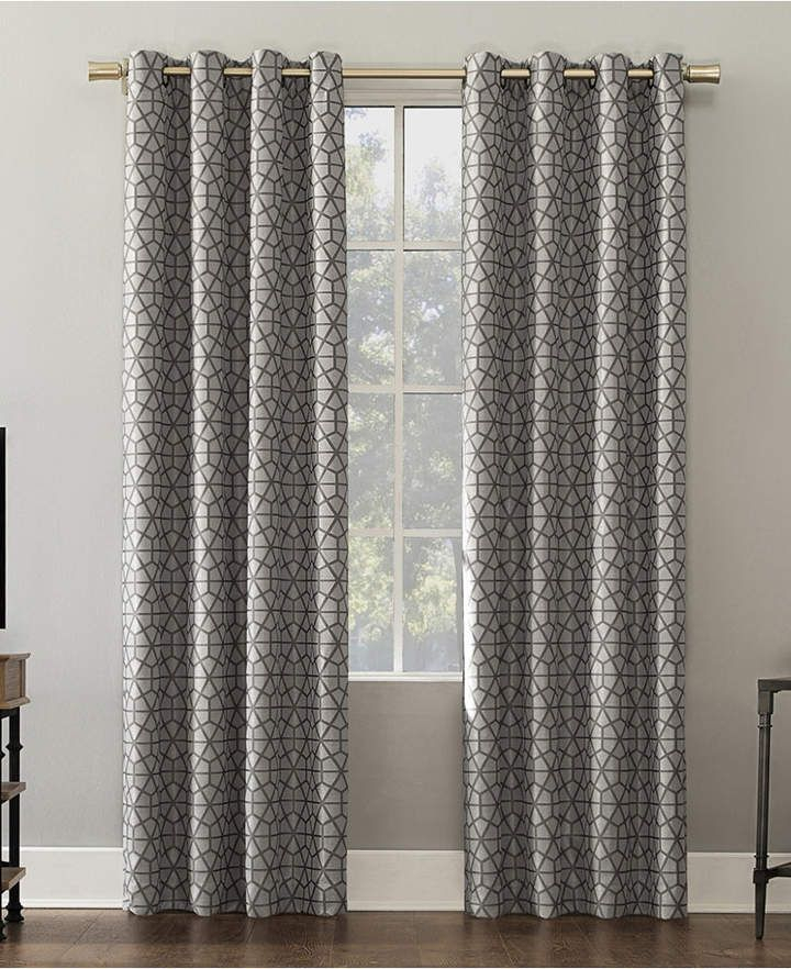 Verve 52 X 84 Mosaic Print Blackout Curtain Panel | Products With Regard To Geometric Print Textured Thermal Insulated Grommet Curtain Panels (View 45 of 45)