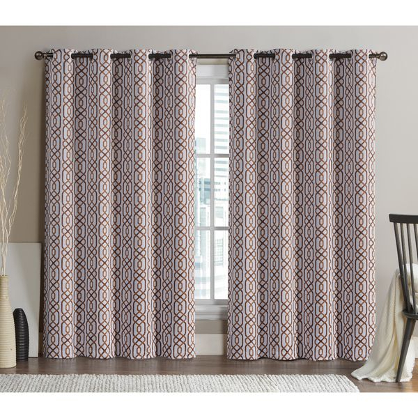 Victoria Classics Alexander 84 Inch Blackout Printed Curtain In Edward Moroccan Pattern Room Darkening Curtain Panel Pairs (View 47 of 50)