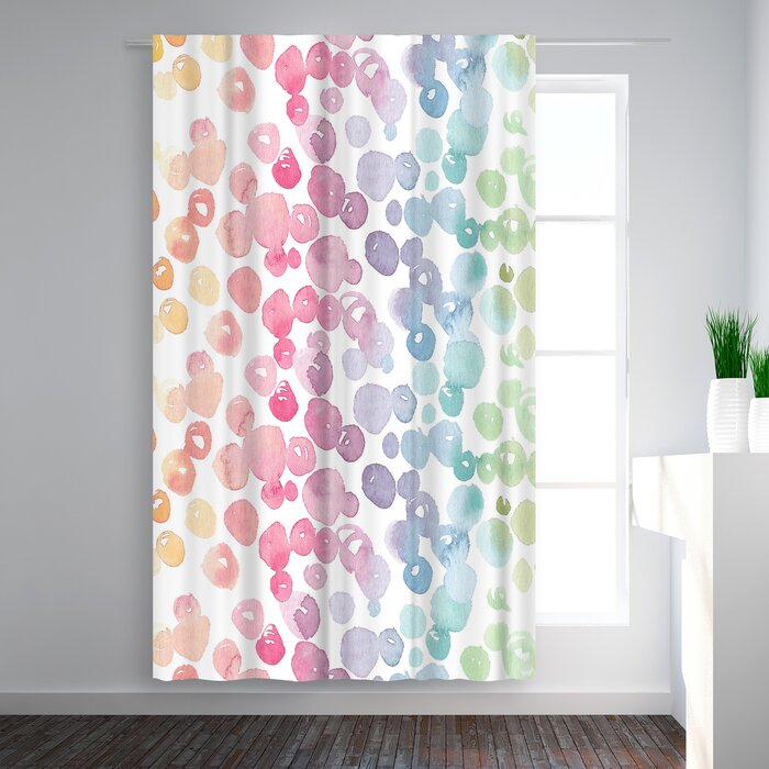 Victoria Nelson Rainbow Abstract Blackout Rod Pocket Single Curtain Panel Intended For Abstract Blackout Curtain Panel Pairs (#43 of 46)