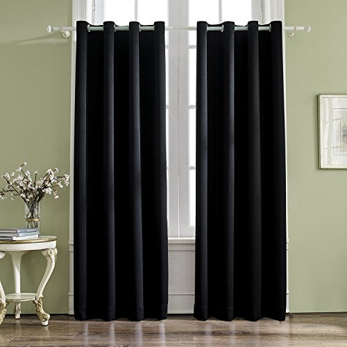 Vogol Room Darkening Thermal Insulated Blackout Solid Window Inside Superior Solid Insulated Thermal Blackout Grommet Curtain Panel Pairs (#45 of 45)