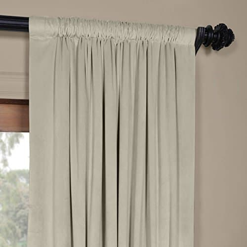 Vpch 160405 108 Signature Blackout Velvet Curtain,cool Beige,50 X 108 With Regard To Cyrus Thermal Blackout Back Tab Curtain Panels (#36 of 39)